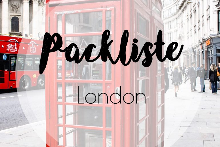 Packliste London