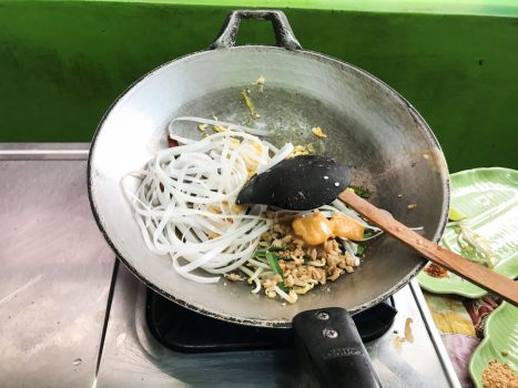 Pad Thai in the making