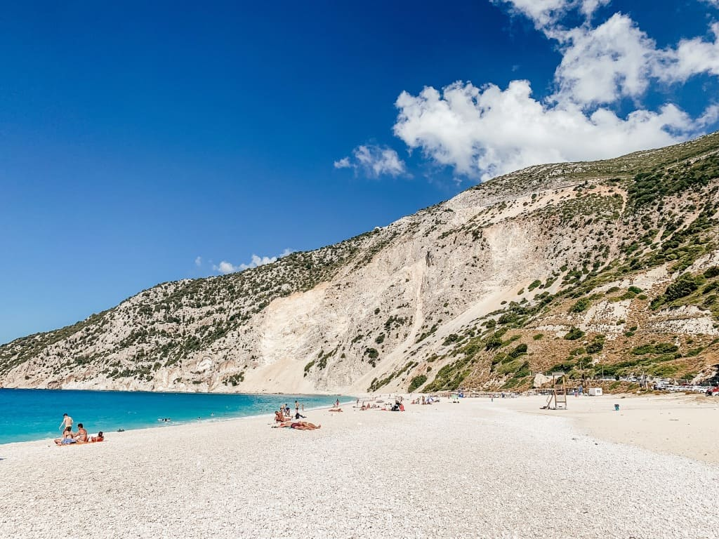 Myrtos Beach Landschaft